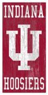 "Indiana Hoosiers 6"" x 12"" Heritage Logo Sign"