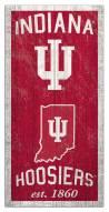 "Indiana Hoosiers 6"" x 12"" Heritage Sign"