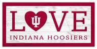 "Indiana Hoosiers 6"" x 12"" Love Sign"