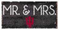 """Indiana Hoosiers 6"""" x 12"""" Mr. & Mrs. Sign"""