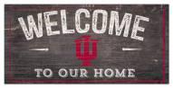 "Indiana Hoosiers 6"" x 12"" Welcome Sign"