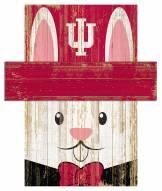 """Indiana Hoosiers 6"""" x 5"""" Easter Bunny Head"""