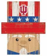 """Indiana Hoosiers 6"""" x 5"""" Patriotic Head"""