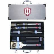 Indiana Hoosiers 8 Piece Stainless Steel BBQ Set w/Metal Case