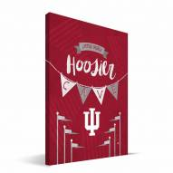 "Indiana Hoosiers 8"" x 12"" Little Man Canvas Print"