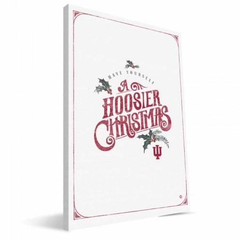 "Indiana Hoosiers 8"" x 12"" Merry Little Christmas Canvas Print"