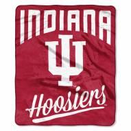 Indiana Hoosiers Alumni Raschel Throw Blanket