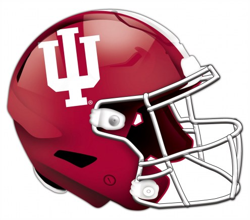 Indiana Hoosiers Authentic Helmet Cutout Sign