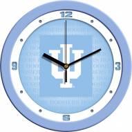 Indiana Hoosiers Baby Blue Wall Clock