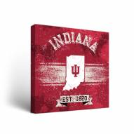 Indiana Hoosiers Banner Vintage Canvas Wall Art