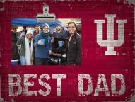 Indiana Hoosiers Best Dad Clip Frame