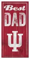 Indiana Hoosiers Best Dad Sign