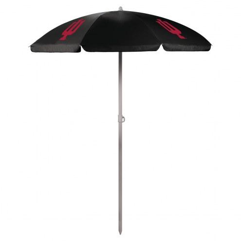 Indiana Hoosiers Black Beach Umbrella