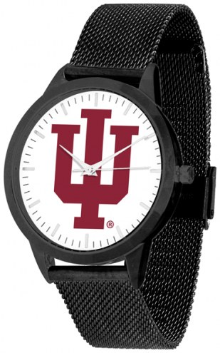 Indiana Hoosiers Black Mesh Statement Watch
