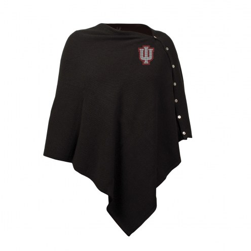 Indiana Hoosiers Black Out Button Poncho