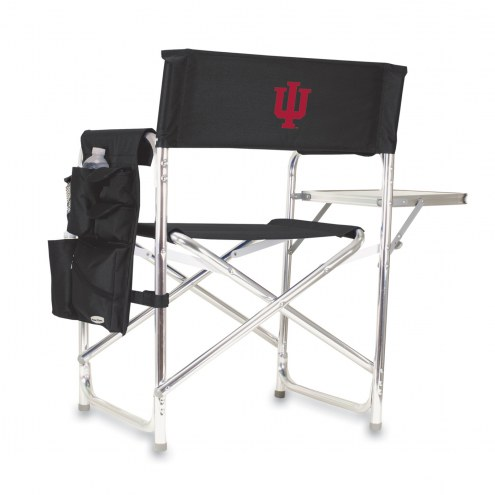 Indiana Hoosiers Black Sports Folding Chair