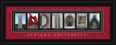 Indiana Hoosiers Campus Letter Art