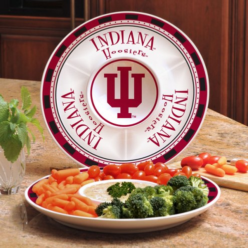 Indiana Hoosiers Ceramic Chip and Dip Serving Dish
