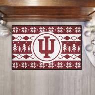Indiana Hoosiers Christmas Sweater Starter Rug