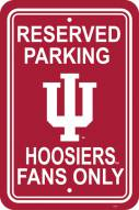 Indiana Hoosiers College Parking Sign