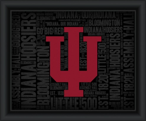Indiana Hoosiers College Word Cloud