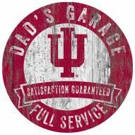 Indiana Hoosiers Dad's Garage Sign