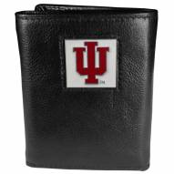 Indiana Hoosiers Deluxe Leather Tri-fold Wallet in Gift Box