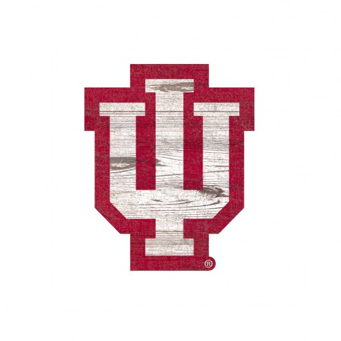 Indiana Hoosiers Distressed Logo Cutout Sign
