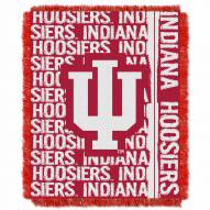 Indiana Hoosiers Double Play Woven Throw Blanket