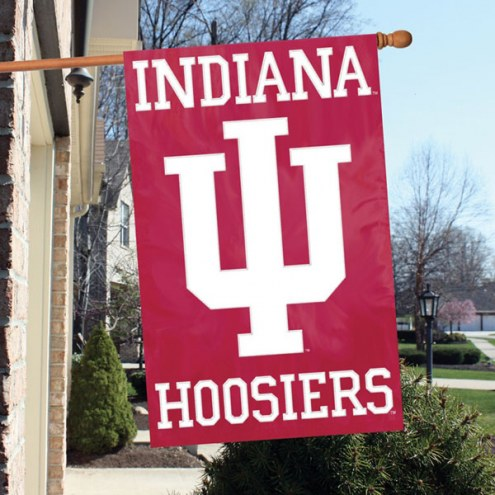 Indiana Hoosiers NCAA Applique 2-Sided Banner Flag