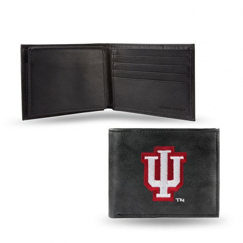 Indiana Hoosiers Embroidered Leather Billfold Wallet