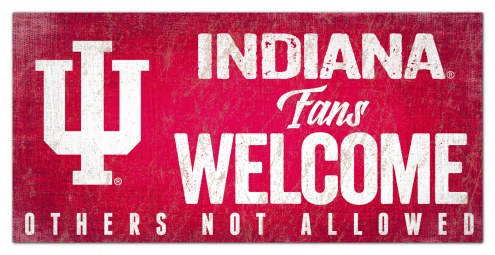 Indiana Hoosiers Fans Welcome Sign