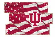 Indiana Hoosiers Flag 3 Plank Sign