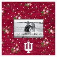"""Indiana Hoosiers Floral 10"""" x 10"""" Picture Frame"""