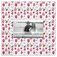 """Indiana Hoosiers Floral Pattern 10"""" x 10"""" Picture Frame"""