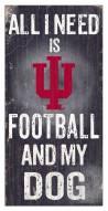 Indiana Hoosiers Football & My Dog Sign