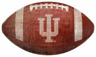 Indiana Hoosiers Football Shaped Sign