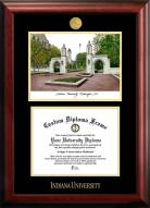 Indiana Hoosiers Gold Embossed Diploma Frame with Campus Images Lithograph
