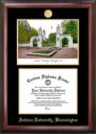 Indiana Hoosiers Gold Embossed Diploma Frame with Lithograph