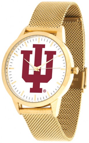 Indiana Hoosiers Gold Mesh Statement Watch