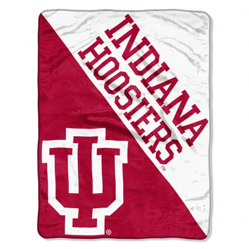 Indiana Hoosiers Halftone Raschel Blanket