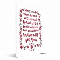 Indiana Hoosiers Hand-Painted Song Canvas Print