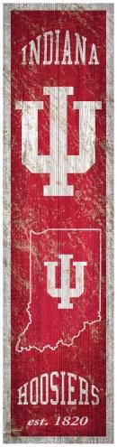Indiana Hoosiers Heritage Banner Vertical Sign