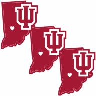 Indiana Hoosiers Home State Decal - 3 Pack