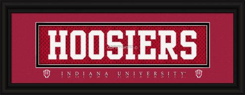 """Indiana Hoosiers """"Hoosiers"""" Stitched Jersey Framed Print"""