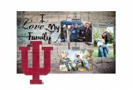 Indiana Hoosiers I Love My Family Clip Frame