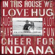 """Indiana Hoosiers In This House 10"""" x 10"""" Picture Frame"""