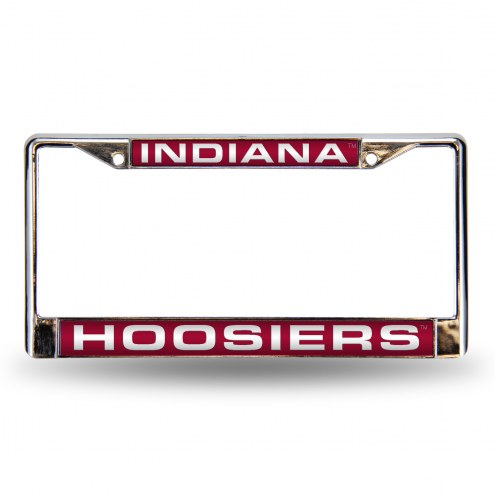 Indiana Hoosiers Laser Chrome License Plate Frame