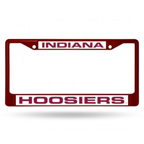 Indiana Hoosiers Laser Colored Chrome License Plate Frame