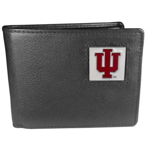 Indiana Hoosiers Leather Bi-fold Wallet in Gift Box